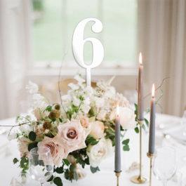 Vjenčani brojevi za stolove toper