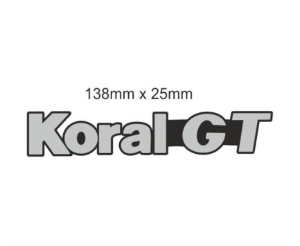 Natpis od plastike Koral GT 1 Kom