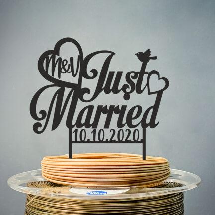 Toper Vjenčanje Just Married Inicijali